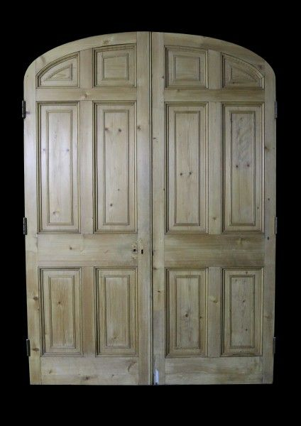 PAIR OF RECLAIMED STRIPPED PINE ARCHED INTERNAL DOORS - UK Architectural  Heritage - 220 Best Reclaimed Antique Doors Images On Pinterest Antique Doors