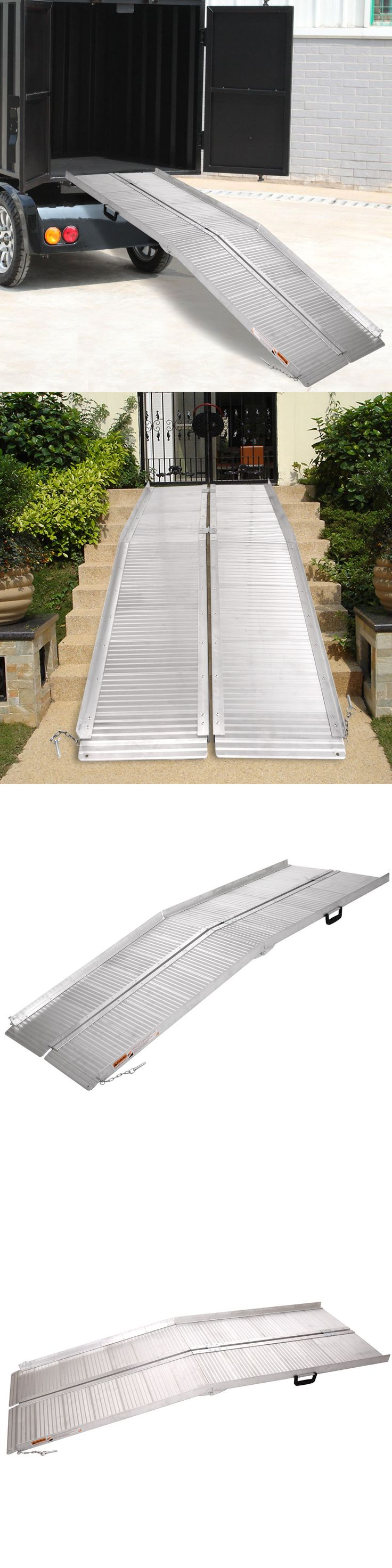Access Ramps: 10 Aluminum Wheelchair Ramp Fold Portable Mobility Handicap Suitcase Threshold BUY IT NOW ONLY: $229.9