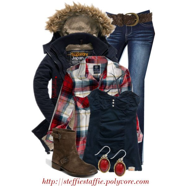 Wintery Plaid, created by steffiestaffie on Polyvore