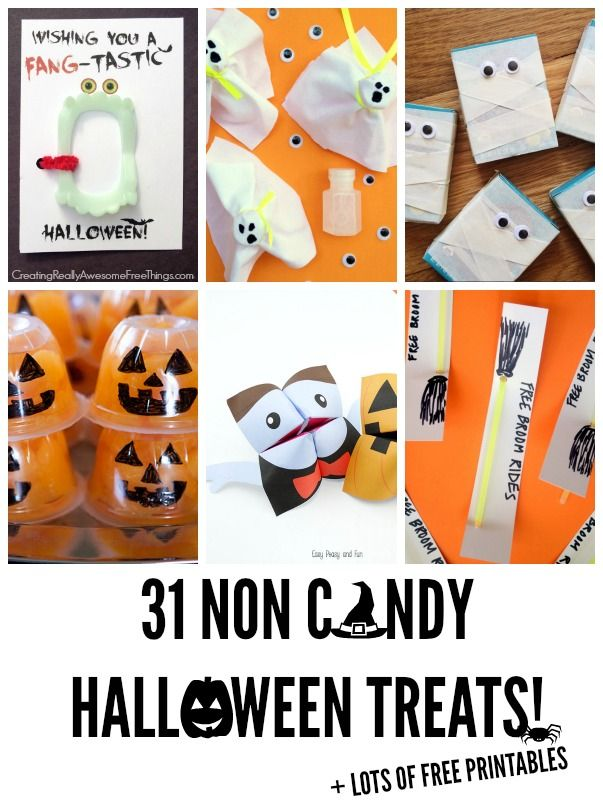 Tons of healthy Halloween food ideas! -31 Non candy treats!