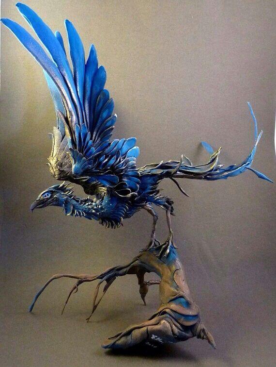 Canadian Cab Guelph >> Phoenix | Creature-Bird in 2019 | Ellen jewett, Fantasy art, Sculpture art