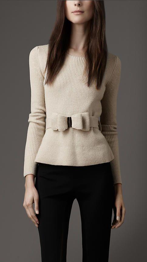 @Burberry #London Bow Belt Sweater