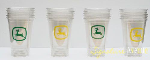 John Deere party cups