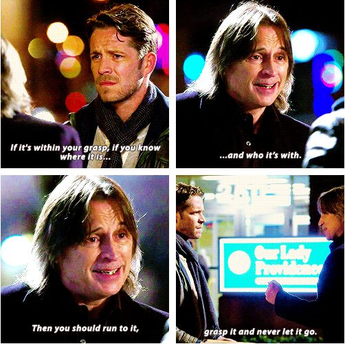 """Rumple and Robin - 4 * 17 """"Heart of Gold"""" <-- Rumple is so wise, take that advice dearie!!"""