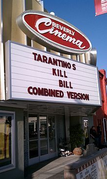 Historic Cinema in LA -- still plays double feature, 35mm shows every night. Bonus? It's owned by Quentin Tarantino