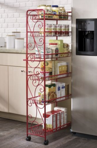 Rolling Kitchen Cart Decor