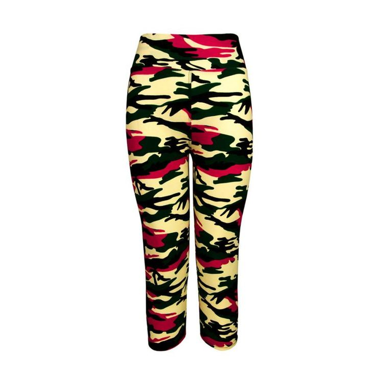 Womens Graffiti Style Slim Camouflage Stretch Trouser Army Leggings Pants Stretch Cropped Leggings Camouflage Leggings #OR1 #Affiliate