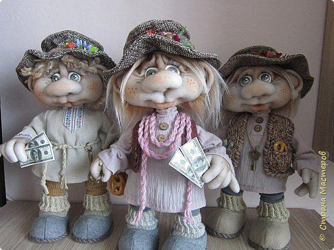Куклы Шитьё И снова домовые Капрон Мех Проволока Пряжа Пуговицы Ткань фото 1