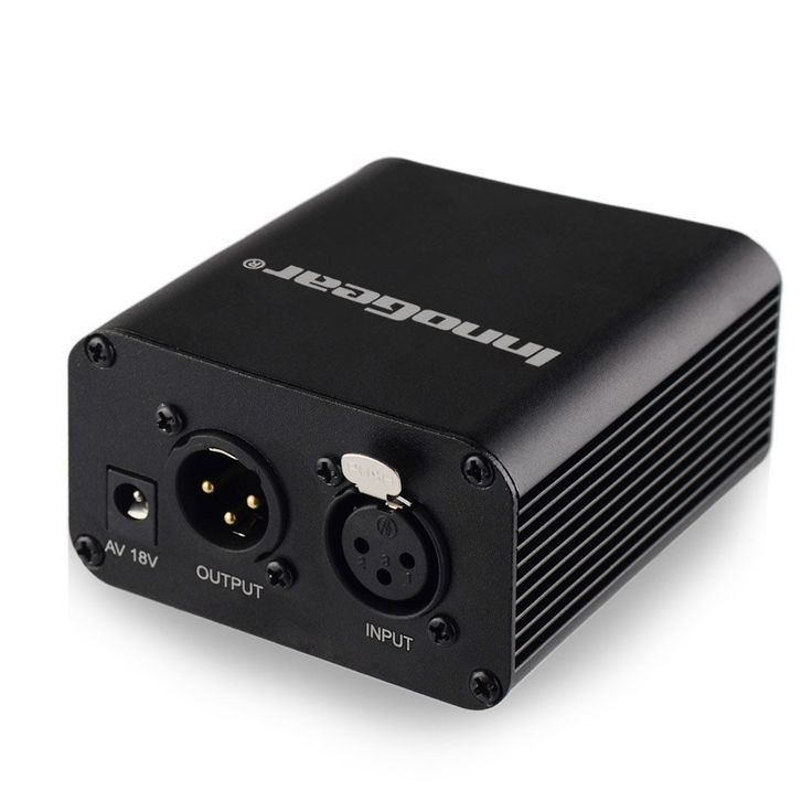 Amazon.com: InnoGear 1- Channel 48V Phantom Power Supply with Adapter for Any Condenser Microphone Music Recording Equipment: Musical Instruments
