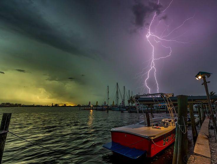 Palma Sola Bay in Bradenton, Florida last night just before sunset