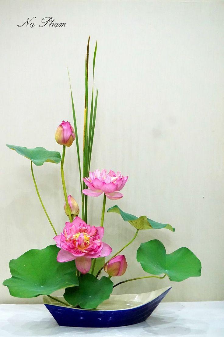 Pink Lotus Floral Arrangement Designed By Nụ Phạm. Part 55
