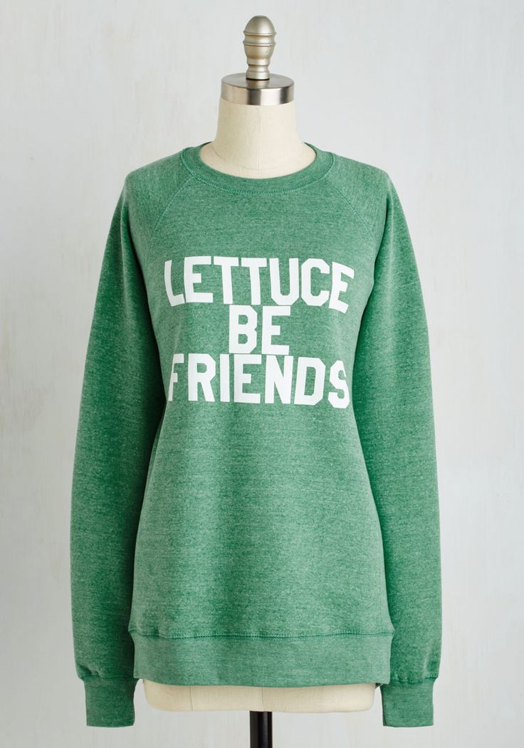 Break the Iceberg Pullover. Youre guaranteed to garner oodles of new friendships every time you step out in this pistachio green pullover! #green #modcloth  Size - M