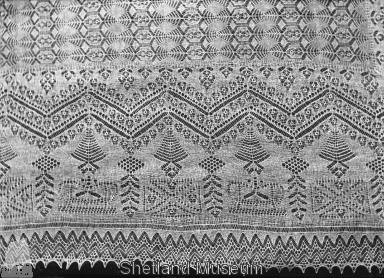 Detail of shawl border- Shetland Museum online