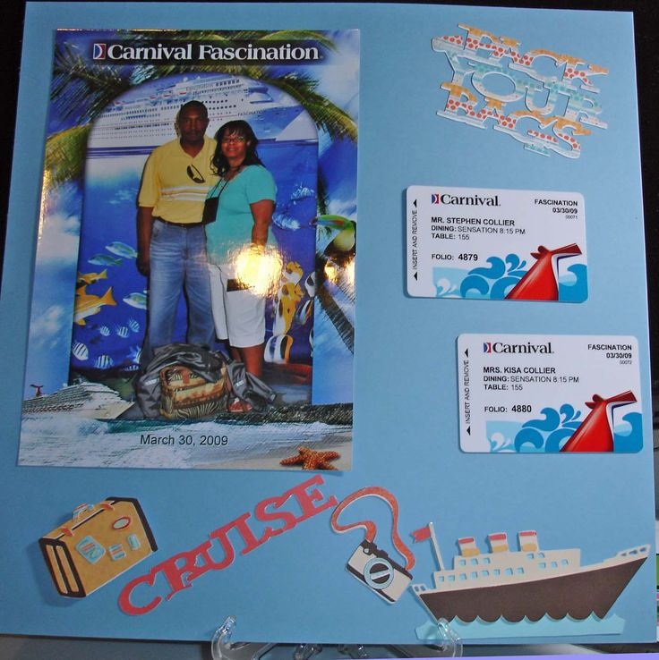 scrapbook page layouts cruise jamaica | Hanging in the Woman Cave: Cruise 2009 Layout