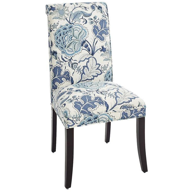 Floral Dining Room Chairs: Angela Indigo Floral Dining Chair