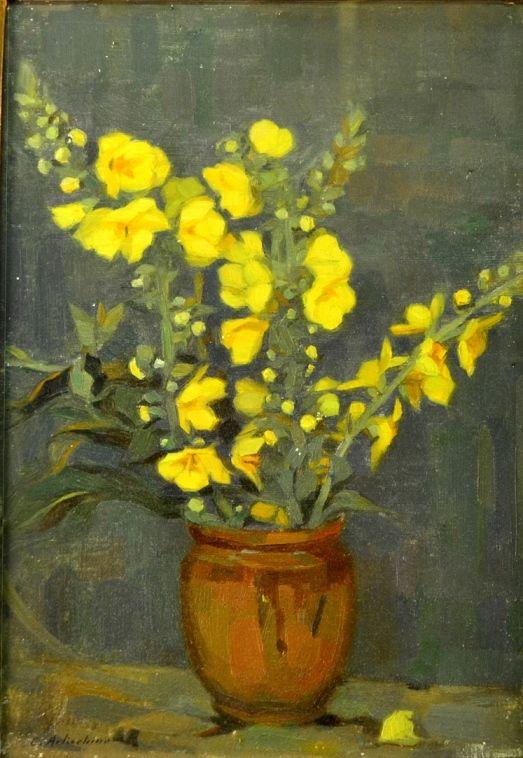Constantin Artachino - Ulcică cu flori galbene