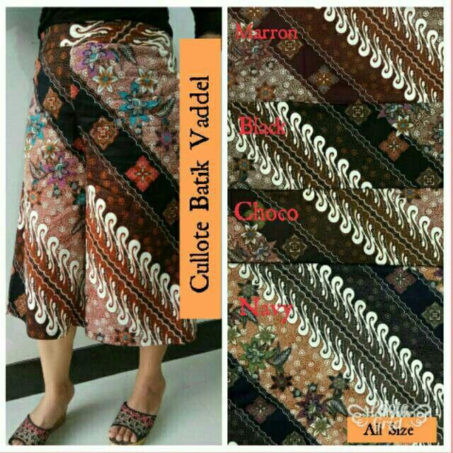 Saya menjual Cullote Batik Vaddel seharga Rp55.000. Dapatkan produk ini hanya di Shopee! https://shopee.co.id/hamzahnisa21/650769609 #ShopeeID