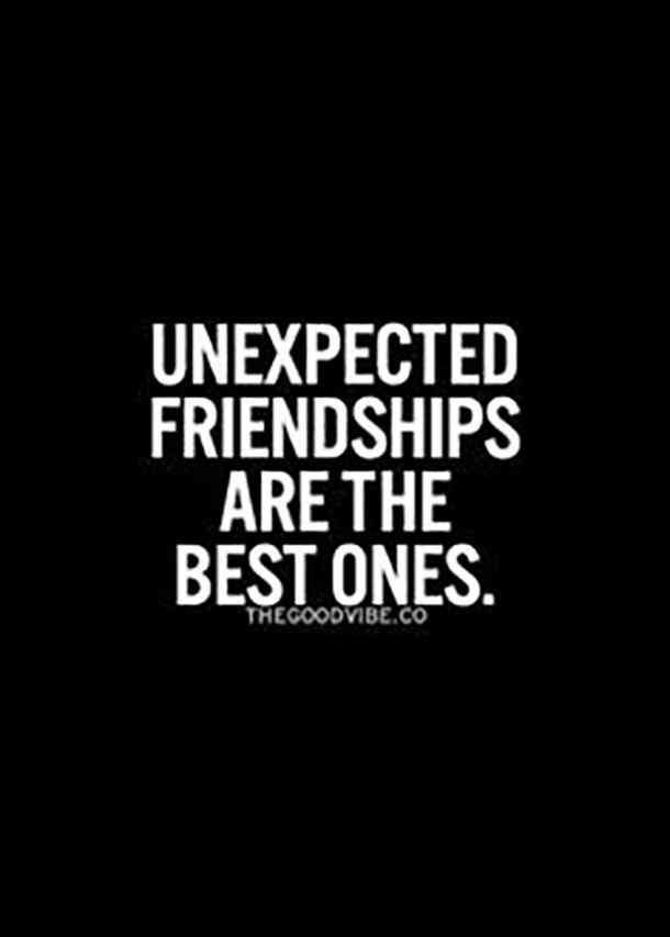 60 Friendship Quotes To Share With Your Best Friend Human Diary And Inspiration Unexpected Friendahip Quotes