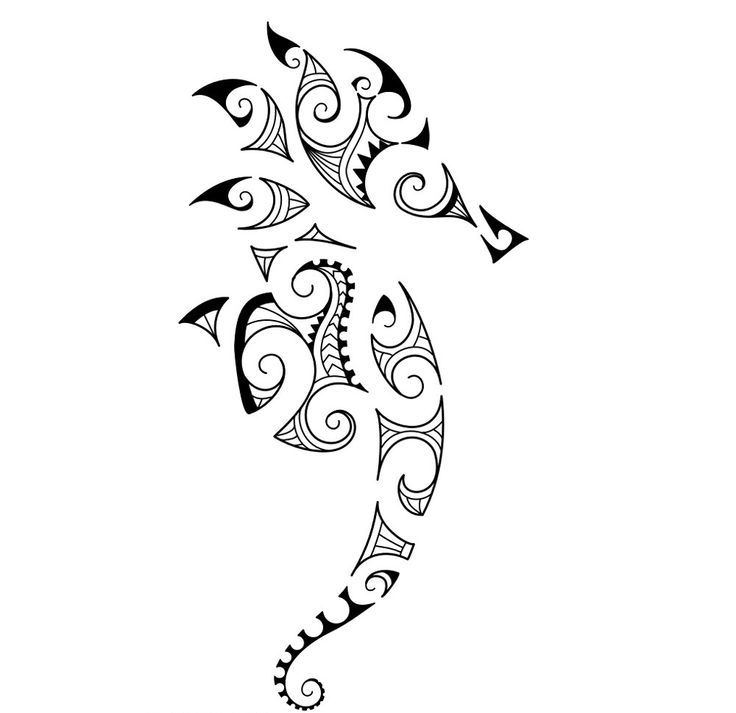Maori Animal Tattoo Designs: Seahorse Tattoo Bigger Curve On Tail