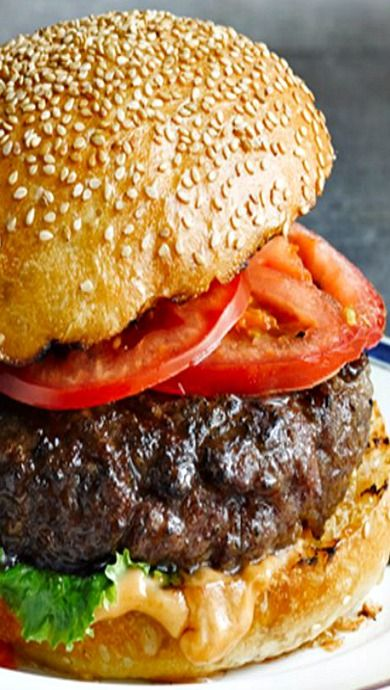 A Juicy Burger...with onion soup mix and bread crumbs.