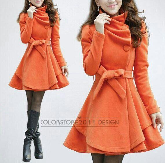 Love this orange coat