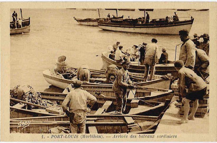 VENTE DIRECTE - PRIX En BAISSE:  PORT-LOUIS, GAVRES - Arrivée Des Bateaux Sardiniers (beau Plan, Animé) - Pêche