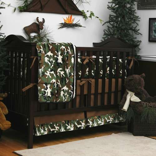 Camouflage Four-piece Crib Bedding Set