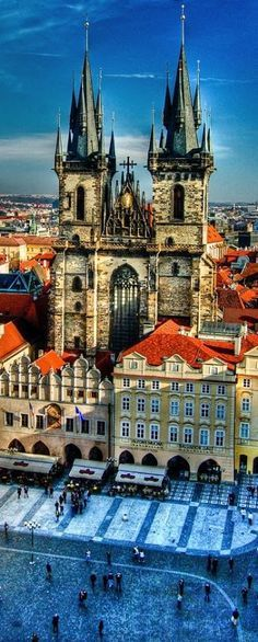 Get up close with the St. Vitus Cathedral in Prague, Czech Republic.