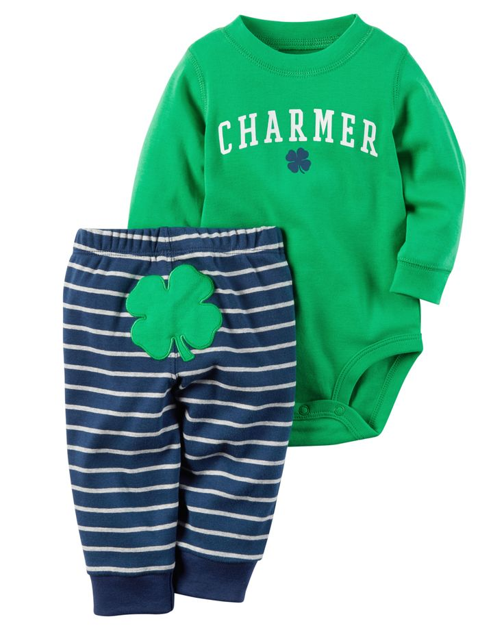 Baby Girl 2-Piece St. Patrick's Day Bodysuit & Pant Set from Carters.com. Shop clothing & accessories from a trusted name in kids, toddlers, and baby clothes.