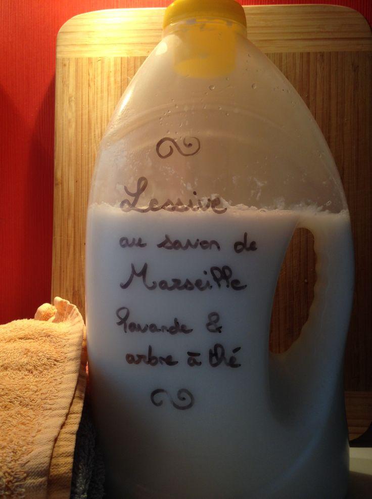 Lessive au savon de Marseille parfumée à la lavande