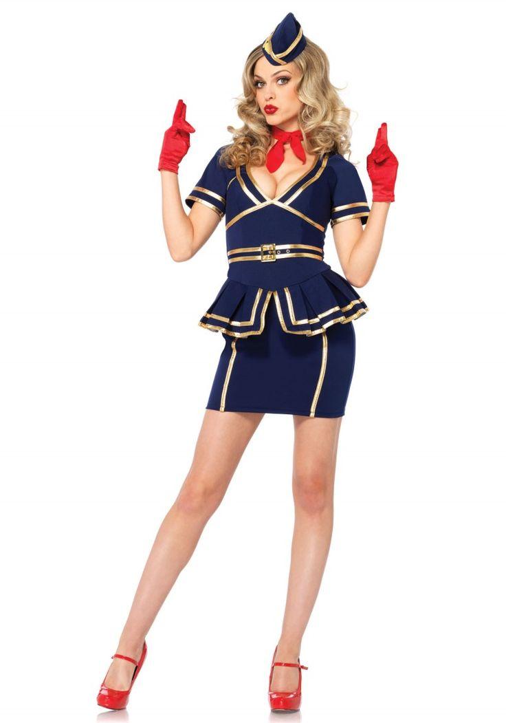 Stewardess női jelmez, napjainkban rendkívül divatos fazonban.