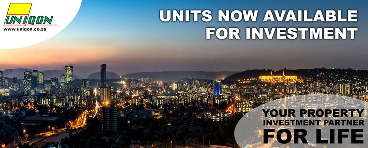 Units now available for investment  Contact charl@uniqon.co.za
