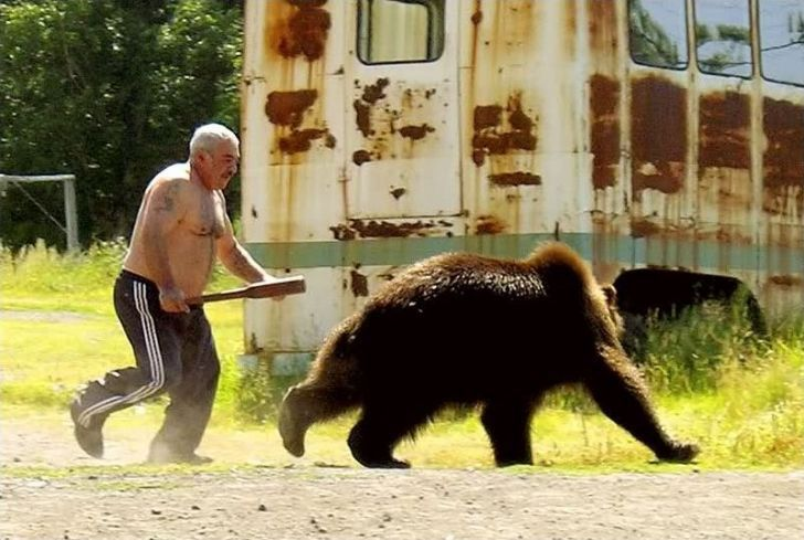 Meanwhile in Russia...  the definition of badass.