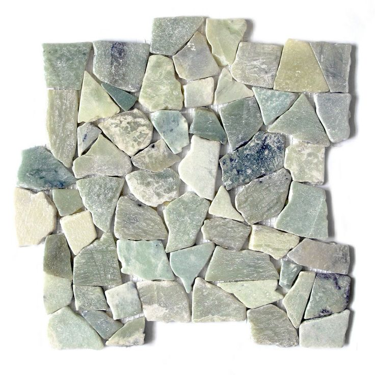 Captivating Sea Grass Jade Stone Mosaic 12 X 12 Interlocking Floor And Wall Tile (Pack  Of