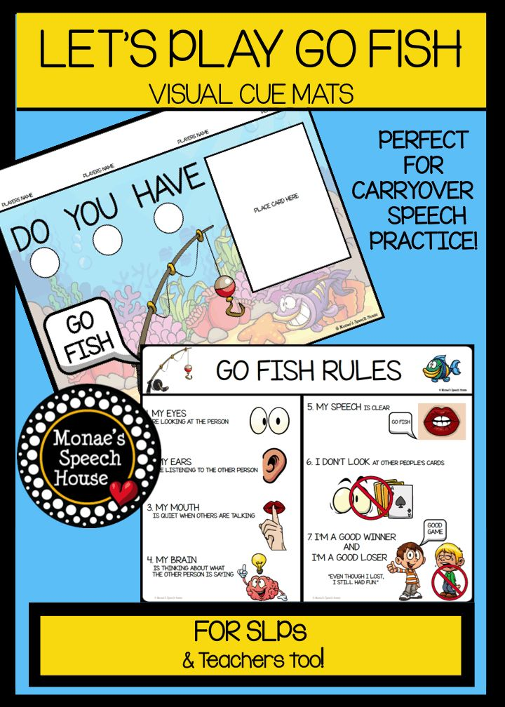 18472 best slps on tpt images on pinterest speech for How to play go fish