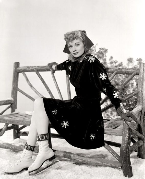 Lucille Ball Winter Ice Skating Ice Skating Through