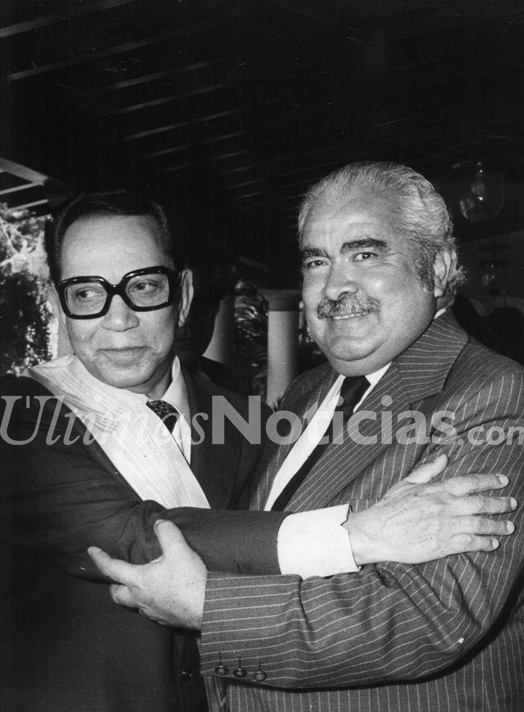 En 1911, nació Mario Fortino Alfonso Moreno Reyes, más conocido como Cantinflas, fue un actor y comediante mexicano, ganador del Globo de Oro en 1956. En la foto junto al venezolano Luis Herrera Campins. Foto: Archivo Fotográfico/Grupo Últimas Noticias