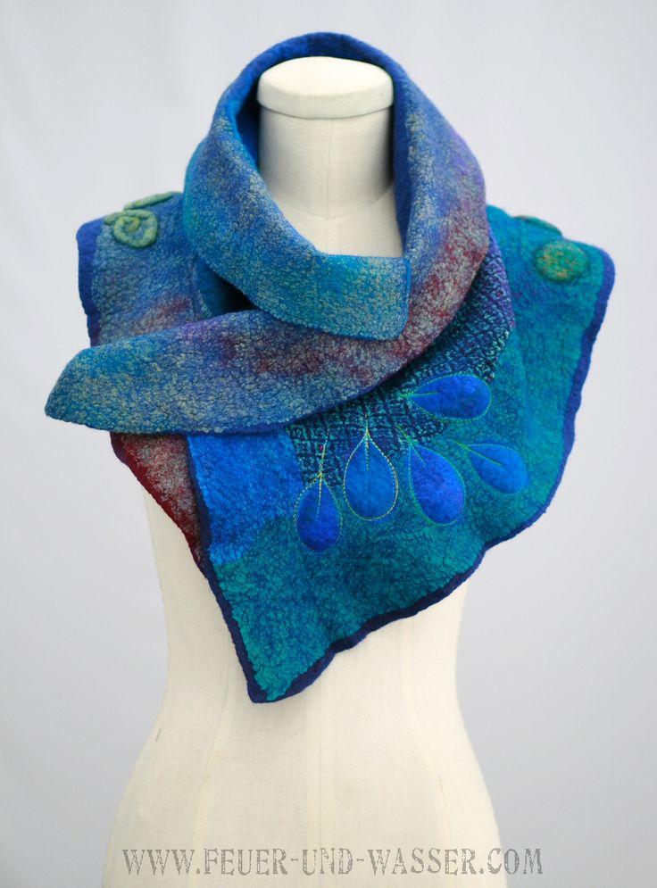 Pin by Indigo Swallow on feltingbbb | Nuno felt scarf ...