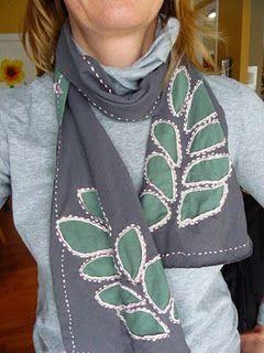 DIY scarf tee