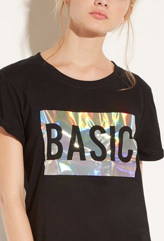 Local Heroes Basic Holo Tee   Forever 21 - 2000141783