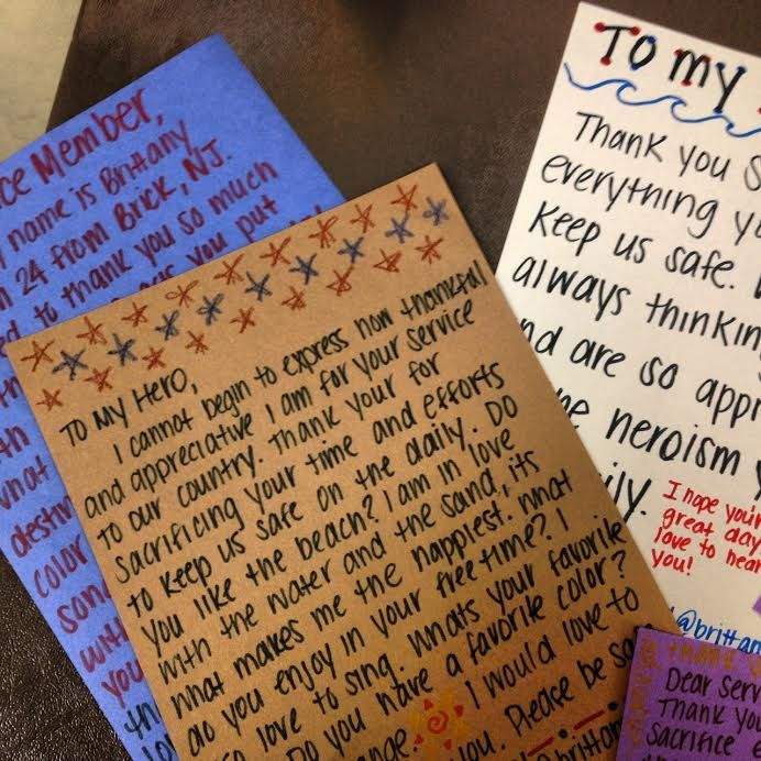Random Acts of Kindness Week Blog #3: Letters to the Military for Operation Gratitude