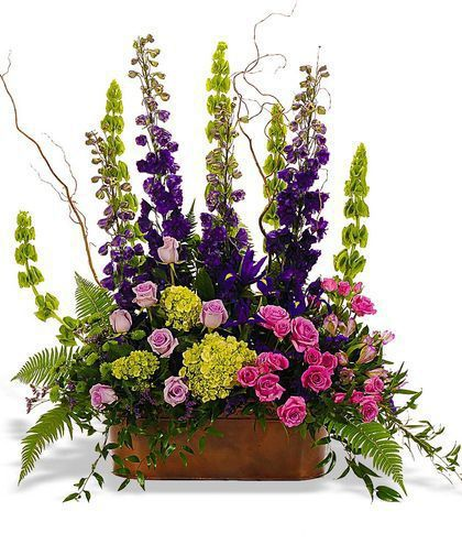 Silk Flower Arrangements Church Altar: Bold Mix Vertical Arrangement224.99