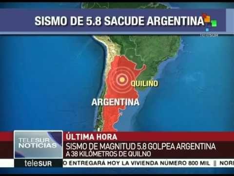 Sismo 5.8 grados Richter se registra en Argentina