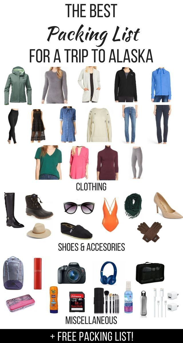Wondering about what to pack for a trip to Alaska? I live in Alaska and I've covered everything you need for your vacation and things to take on a cruise to Alaska. There's also a free printable packing list to help with your preparation. alaska cruise | packing list | packing list for cruise | packing list for travel | packing list for trip | travel to alaska | travel to alaska in winter | travel to alaska alone | things to take on a cruise