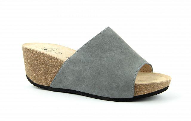 9221f50f9c Zdravotní obuv Jasný pantofle na klínku TINA šedé 2102