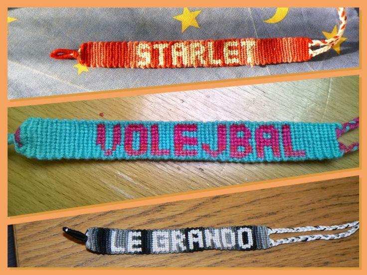 Friendship bracelet with text-Starlet, Volejbal, Le grando