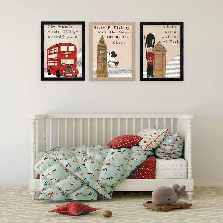 Our Nursery Rhyme prints are a favourite for little's.