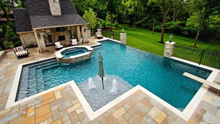 Use Good Pool Designs To Enhance Your Backyard Decorifusta Swimming Pool Designs Pool Patio Pool Landscaping