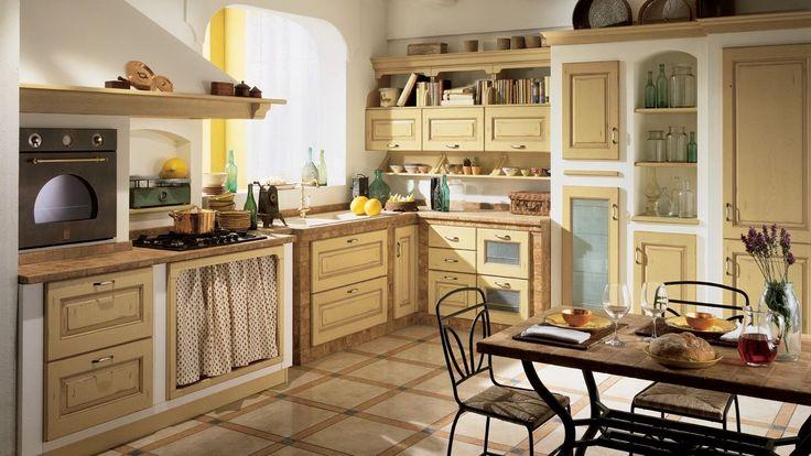 Scavolini konyhabútor - klasszikus olasz konyhák tradicionális, vidéki, mediterrán stílusokban - Belvedere