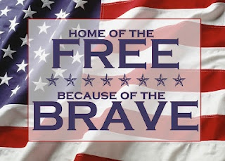 Home of the FREE because of the BRAVE (USA version) - free 5X7 printable!
